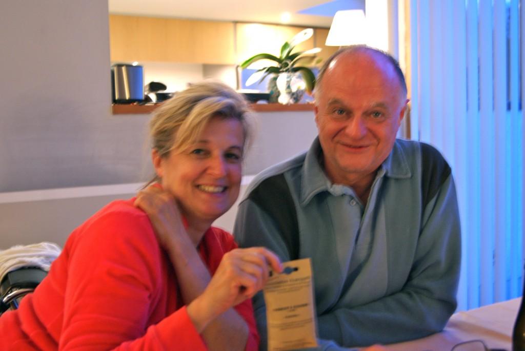 Tony et Catherine nous accueille généreusement pour notre première nuit!