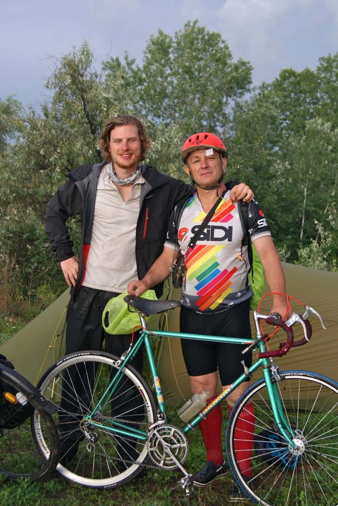Alexander, un cycliste Ukrainien