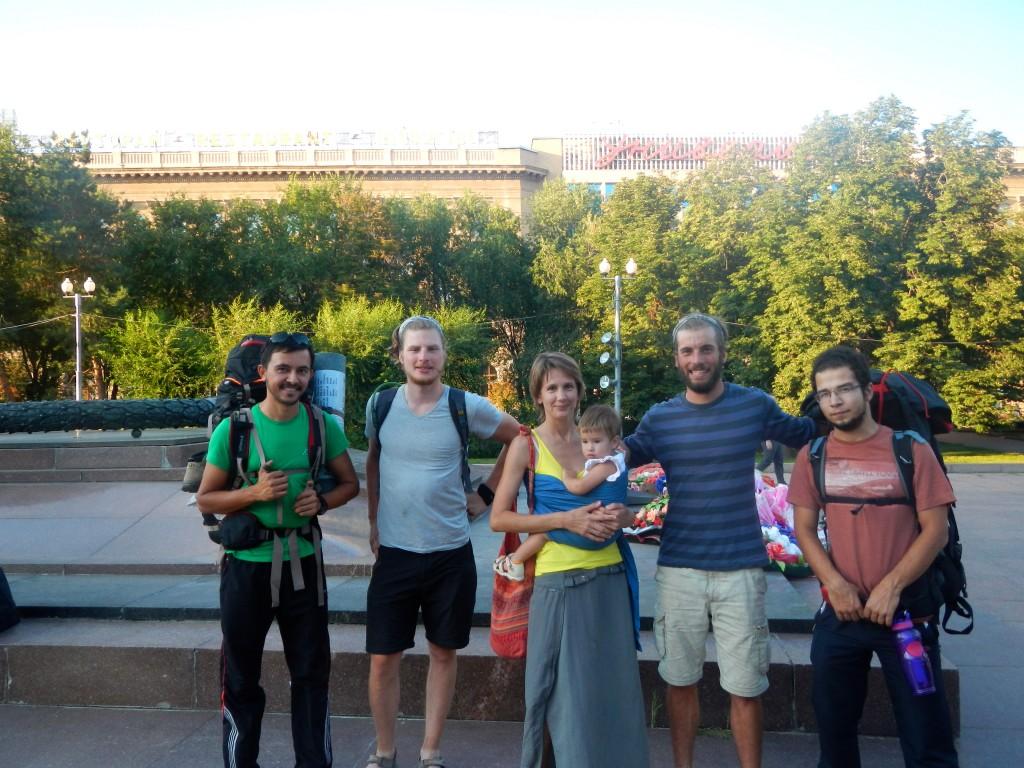 Inga, Mira et nos amis couchsurfers Turques