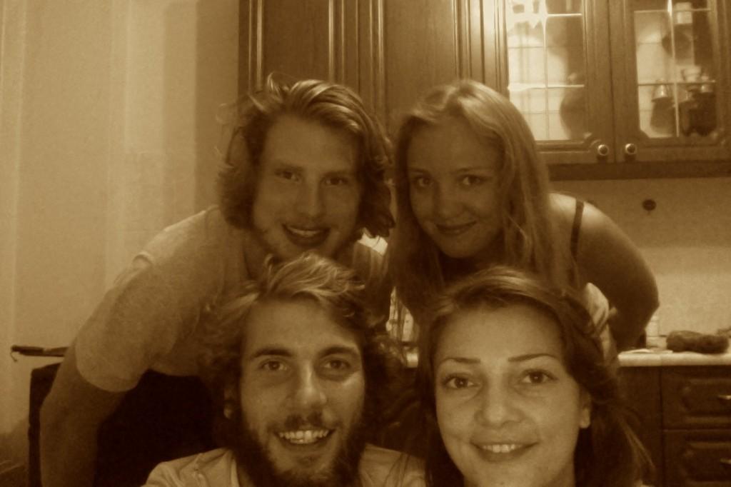 Petite photo avec nos hôtes, Natalie et Ksyusha