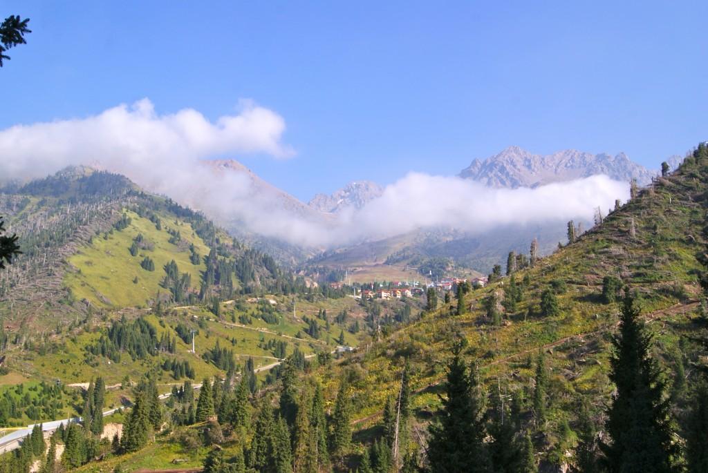 Chimbulak, station de ski.