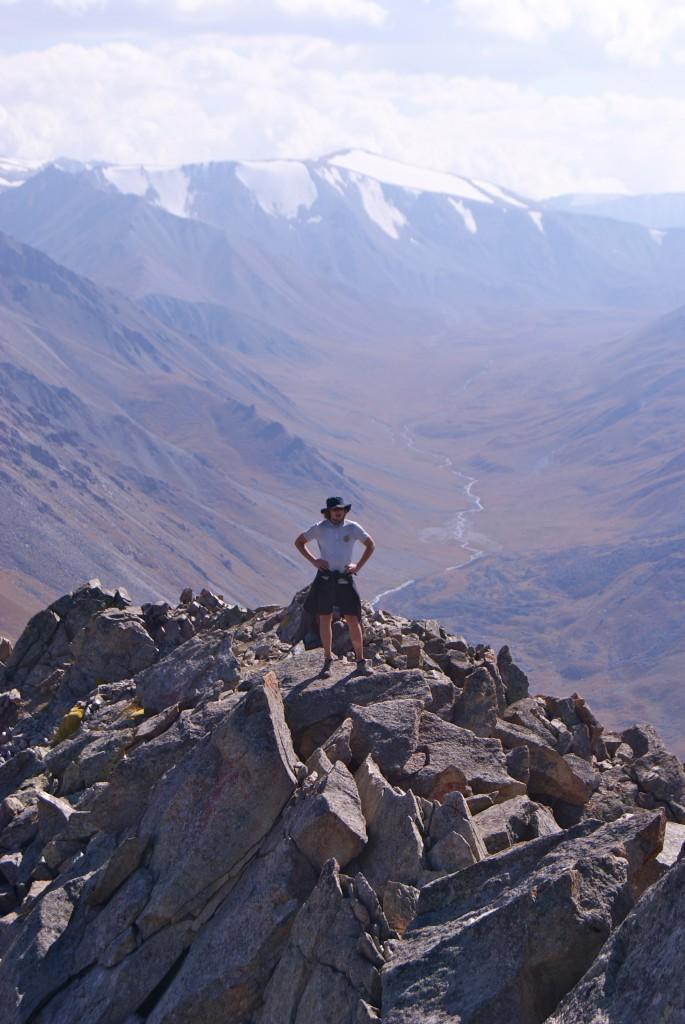 Marco à 3 600m, pic d'Almaty