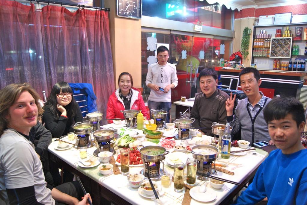 Diner avec notre ami Pharmacien et sa famille à Minxian