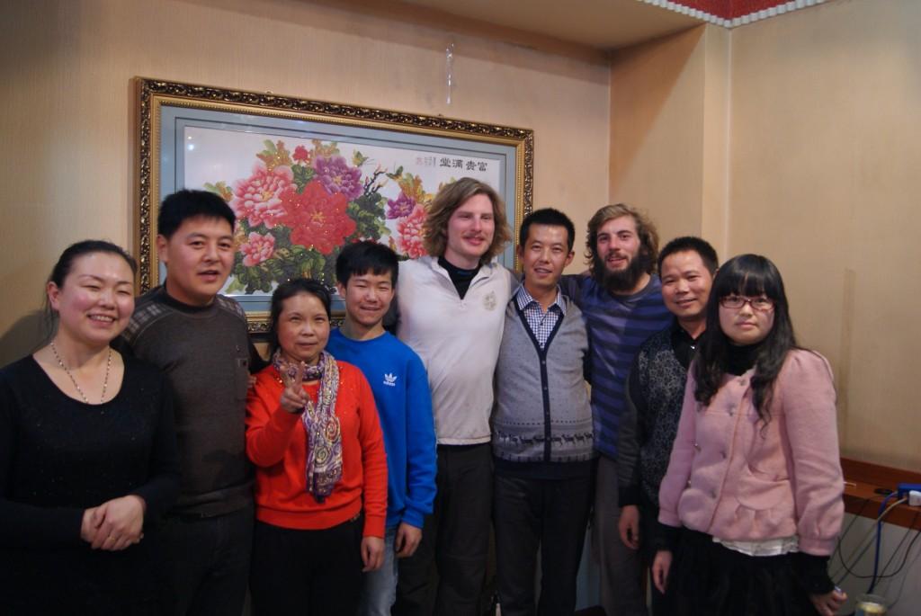 Photo avec la famille