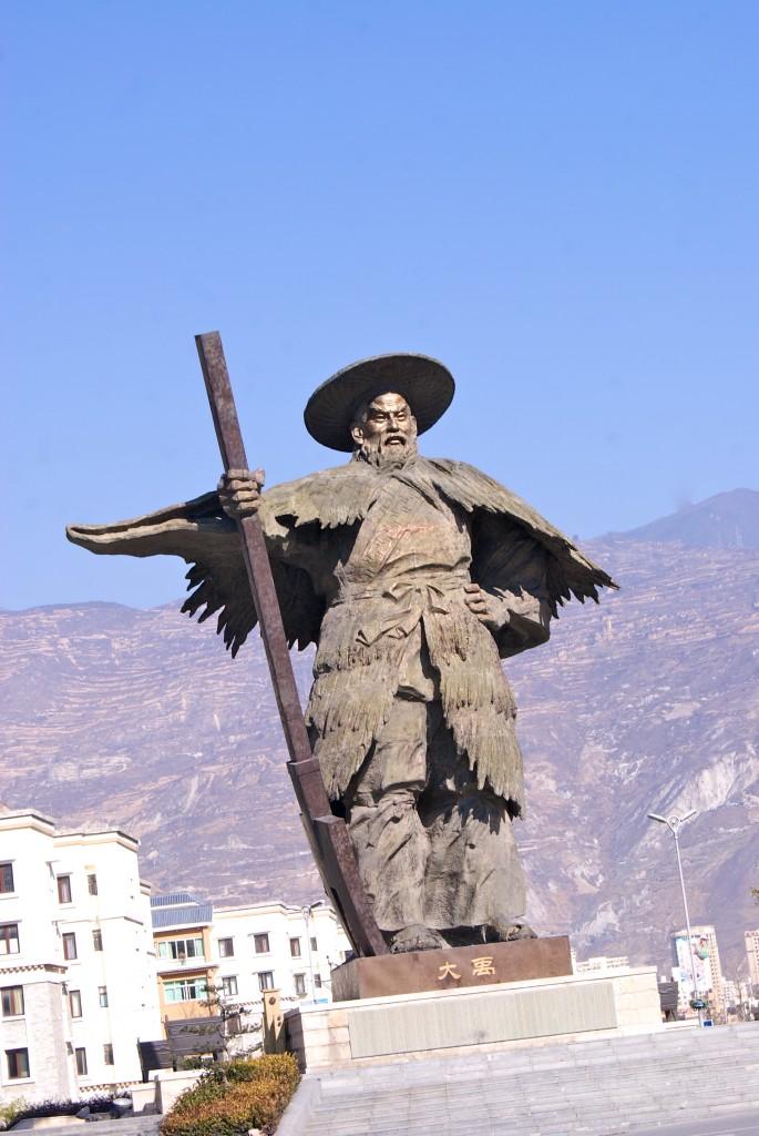 Statue à la gloire du mineur Chinois