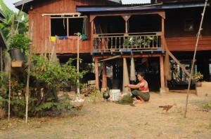 Maison traditionnel Lao, 4000 Iles
