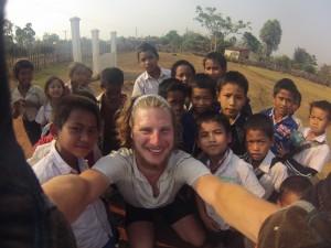 École primaire sur la route de Sékong